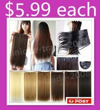 Long Straight Full Head Clip In On Hair Piece Hair Extension Natural Straight
