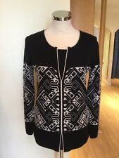 Faber Jumper Size 10 BNWT Black Cream RRP £147 Now £49