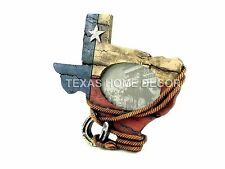 Western Rustic Picture Frame Texas Map Outline Star Rope Horseshoe Flag Colors
