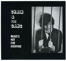 Music's Not For Everyone - Chain & The Gang (2011, CD NEUF)