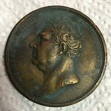 King GEORGE IV Commemorative Memorial MEDAL Great Britain England