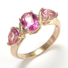 14K SOLID ROSE GOLD PURE PINK MYSTIC TOPAZ RING #R480