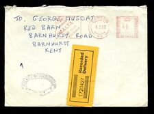 GB RECORDED DELIVERY MALTA METER FRANKING 1983...HIGH COMMISSION LONDON