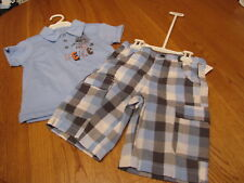 Boy's Kenneth Cole plaid shorts Polo shirt 3T NEW set outfit toddler