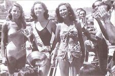 """CARTOLINA NAPOLI 1950 - ELEZIONE DI """"MISS NAPOLI"""" - ARCHIVIO FOTO CARBONE"""