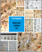 10PAIRS!  DANGLE EARRINGS on STERLING SILVER POSTS for Sensitive Ears: Wholesale