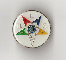 Masonic/Freemason - Hat/Lapel Pin OES Eastern Star - Round Design