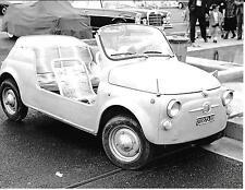 FIAT 500 JOLLY GHIA MONACO GRAND PRIX 1966  PHOTOGRAPH spiaggine FOTO RARE