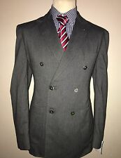 BNWT HARDY AMIES SAVILE ROW LONDON LUXURY BLAZER/JACKET DB BREASTED GREY 42R