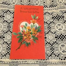 Vintage Greeting Card Valentine Pretty Flowers And Heart