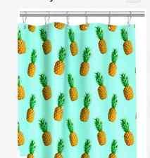 Stylish Blue Tropical Citrus Hawaiian Pineapples Shower Curtain