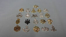 Job Lot / Collection Of 21 Miniature British Military Army Cap Badges 1970's