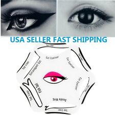 6 in 1 Eyeliner Template Cat Eye Makeup Smoky Liner Guide Stencils Quick Party