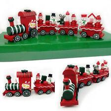 Holz Weihnachtszug Eisenbahn Lokomotive Weihnachten Schneemann Weihnachtsdeko