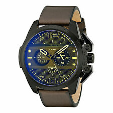 Diesel Mens Watch Ironside Big DZ4364 Chronograph Black Brown RRP £239 New Boxed