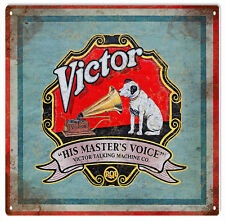 Victor His Masters Voice Advertisement Sign