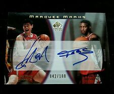YAO MING / TRACY McGRADY 2004-05 UD SP SIGNATURE MARKS DUAL AUTOGRAPH AUTO #/100