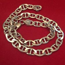 """Sterling Silver 925 - ITALY 7mm Mariner Chain 27.8 Grams - Necklace 14.8"""") Mens"""