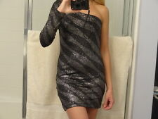 NEW Guess by Marciano Aria Glitter  one shoulder  dress  size M