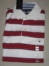 Tommy Hilfiger Mens Short Sleeve Polo Shirt Size S Striped Classic Fit Red White