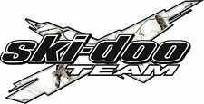 SKI-DOO Team X CAMO WHITE vinyl vehicle decal and window sticker graphics