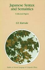 Studies in Natural Language and Linguistic Theory: Japanese Syntax and...