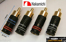 4 PLUGS RCA NAKAMICHI MALE GOLD 24 K CABLE HIFI AUDIO AMP TURNTABLES DJ