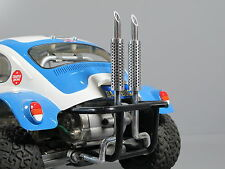 Custom Dual Alloy Exhaust for Tamiya 1/10 RC Sand Scorcher Super Champ Buggy SRB