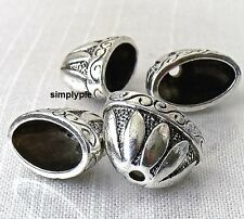 20mm Large Fancy Oval Cones Antiqued Silver 4 Bead Caps New Arrivals
