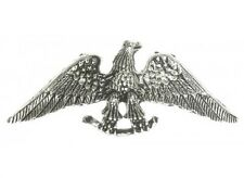 """(#A205) EAGLE with SPREAD WING Pewter Vest / Hat Pin 2.6"""" x 1"""" Biker Jacket"""