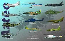 RARE Aztec Model Decals for Malvinas/ Falklands War Part One. 1:48 48-048 Kills