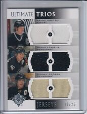 2007-08 Ultimate Collection GRETZKY - LEMIEUX - CROSBY Ultimate Trios JERSEY /25