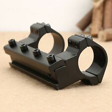 """1"""" 25.4mm One Piece Dual High Profile Rings Rifle Scope 11mm Dovetail Rail Mount"""
