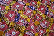 Mexican Oilcloth PVC Tablecloth Fruit multicolored Kitchen Fabrics