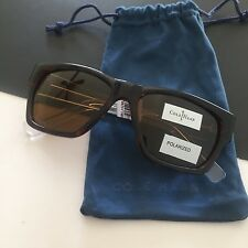 Cole Haan Mens Rectangular Polarized Sunglasses Tortoise Crystal C17067 NWT