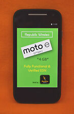 REPUBLIC WIRELESS, MOTOROLA MOTO E 8GB, 2ND GEN, SMARTPHONE, BLACK, SCORCHING