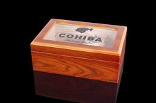 New Style COHIBA Cedar Wood Cigars Case Humidor Hygrometer Humidifier Nice Gift