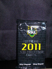 NRL OFFICIAL 2011 COLLECTOR TRADING CARDS - PACK 9 - NEW AND SEALED