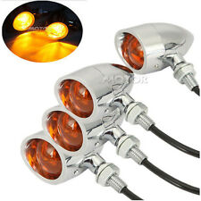 4PCS Motorcycle Bullet Turn Signals for Harley Davidson Dyna Softail Sportster
