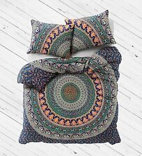 Indian Duvet Doona Cover Multi Mandala Hippie Bohemian Queen Quilt Cover _w22