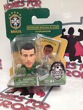 SOCCERSTARZ BRAZIL JULIO CESAR GREEN BASE SEALED IN BLISTER PACK