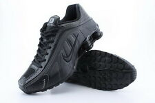 Mens Nike Shox R4 Size 8.5 ALL BLACK New Running Cross Training