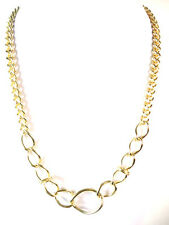 Señoras elegantes Oro Cadena Collar impresionante nuevo y único (St69)