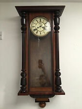 Antique Victorian German Gustav Becker Wall Clock Weight Driven Vienna Regulator