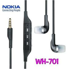 100% ORIGINAL Nokia WH-701 WH 701 Stereo Headset Hands Free Earphone Black 3.5mm