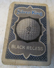 VINTAGE FULL DECK OF 52 CARDS ADVERTISING THE SILVER KING BLACK RECESS GOLF BALL