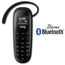 "A2DP Stereo Bluetooth Headset w/ Dialer Keypad 0.66"" LCD Caller ID For All Phone"