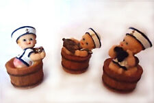 3 Cute Gift Miniature Baby Ornament Collection Girl Boy Sailor Outfit in Barrel
