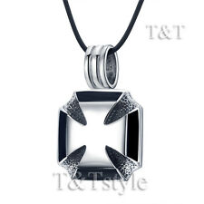 High Quality TTstyle 316L Stainless Steel Iron Cross Pendant Necklace
