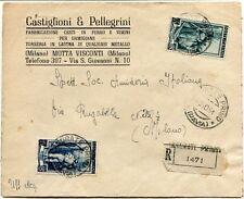 1951 Italia al Lavoro RACCOMANDATA Castiglioni & P. Cesti per Damigiane Casorate